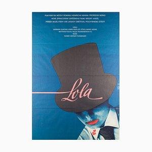 Vintage Lola Filmplakat von Vratislav Seccik, 1983