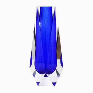 Jarrón Sommerso de cristal de Murano, años 70