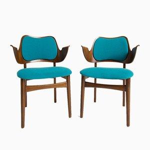 Dänische Armlehnstühle von Hans Olsen für Bramin, 1950er, 2er Set