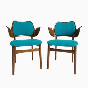 Danish Shell Chairs by Hans Olsen for Bramin, 1950s, Set of 2