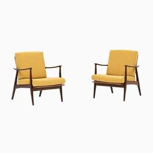 Danish Lounge Chairs, 1960s, Set of 2