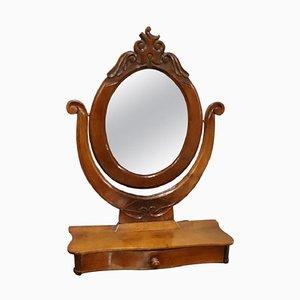 Espejo de mesa antiguo de nogal, década de 1880