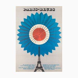 Affiche de Film Paris Blues Vintage, années 70