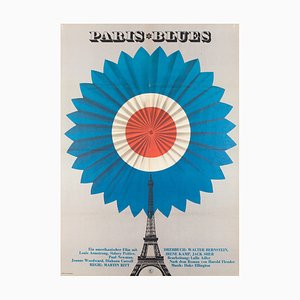 Vintage Paris Blues Film Poster, 1970s