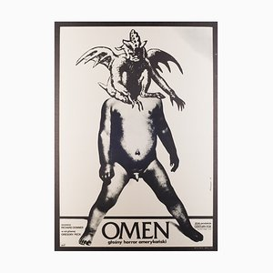 Vintage The Omen Film Poster by Andrej Klimowski, 1977