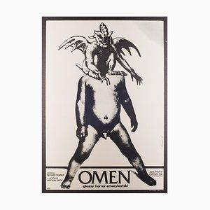 Vintage The Omen Filmplakat von Andrej Klimowski, 1977