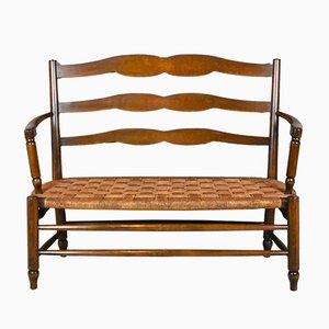 French Beech Bench, 1950s