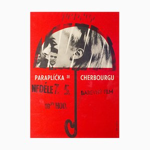 Vintage The Umbrellas of Cherbourg Film Poster by Miroslav Vystrcil, 1966
