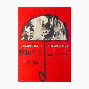 Vintage The Umbrellas of Cherbourg Filmplakat von Miroslav Vystrcil, 1966