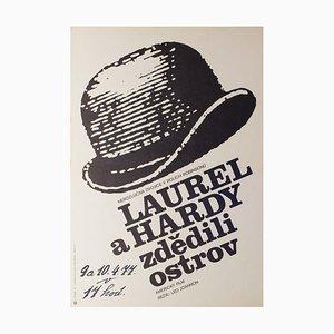 Vintage Utopia Film Poster by Frantisek Subrt, 1970s