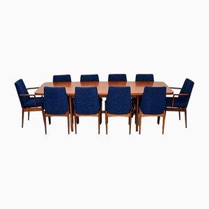 Table de Salle à Manger & Chaises en Teck Set de Robert Heritage pour Archie Shine, années 60
