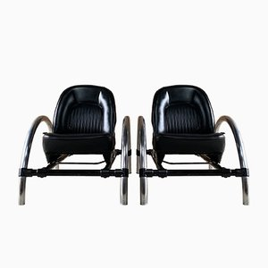 Rover Lounge Chairs by Ron Arad for One Off Ltd., 1981, Set of 2