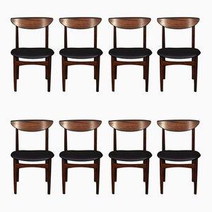 Mid-Century Esszimmerstühle aus Palisander von Harry Østergaard, 8er Set