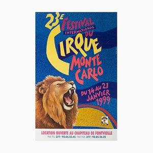 Französisches Monte Carlo Zirkusplakat, 1999