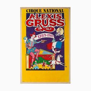 Französisches Alexis Gruss Zirkusplakat von BACHA, 1989