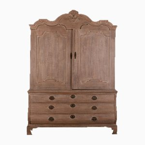 Antique Dutch Oak Linen Press