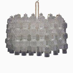 Lámpara de techo de cristal de Murano de Venini, años 60