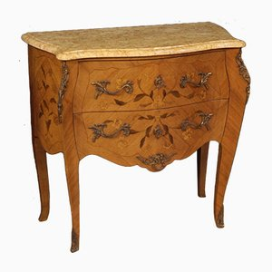 French Rosewood and Marble Commode, 1960s
