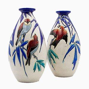 Vasi vintage di Charles Catteau per Boch Frères, set di 2