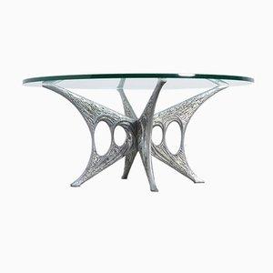 Mesa de centro escultural de Willy Ceysens, años 60