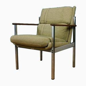 Teak and Chrome Armchair, 1960s