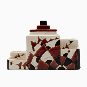 Vintage Ceramic Pot by Charles Catteau for Boch Frères