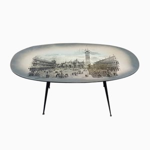 Italian Coffee Table with a Picture of the Piazza San Marco