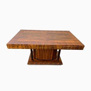 Tavolo da pranzo Art Déco in palissandro, anni '30