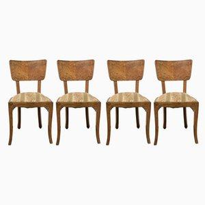 Art Déco Esszimmerstühle aus Palisander, 1930er, 4er Set