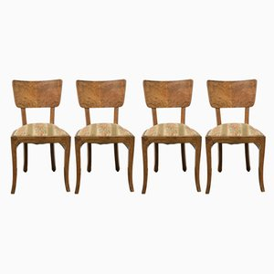 Art Deco Rosewood Dining Chairs, 1930s, Set of 4