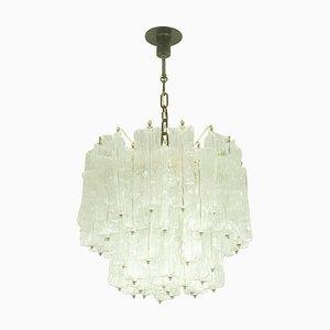 Lámpara de araña de cristal de Murano de Toni Zuccheri para Venini, años 60