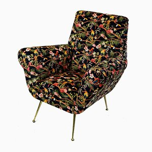 Italian Club Chair by Gigi Radice for Minotti, 1950s