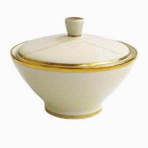 Zuccheriera dorata in porcellana di Rosenthal, anni '60