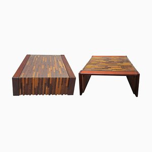 Tavolini da caffè Mid-Century in Jacaranda di Percival Lafer, set di 2