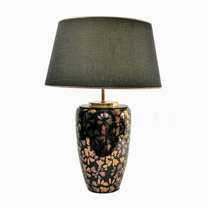 Brass and Ceramic Table Lamp, 1980s