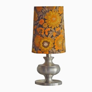 Mid-Century Stainless Steel Table Lamp