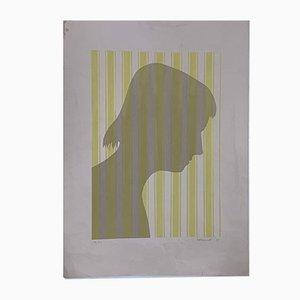 Shadows Siebdruck von Berto Ravotti, 1972