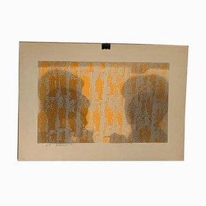 Lithographie Shadows of Human Figures in Conversation par Berto Ravotti, 1971