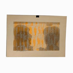 Shadows of Human Figures in Conversation Lithograph by Berto Ravotti, 1971