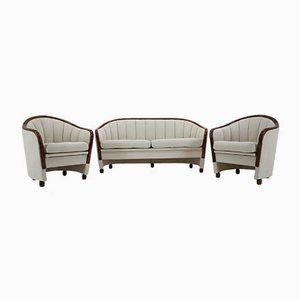 Sofa and Armchairs, 1950s, Set of 3