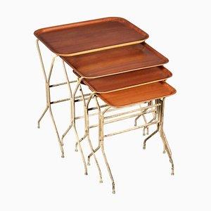 Tavolini ad incastro di Lena Larsson per Nordiska Kompaniet, anni '50, set di 4
