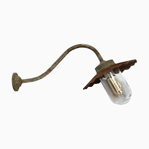 Vintage Industrial Brown Cast Iron Sconce, 1950s