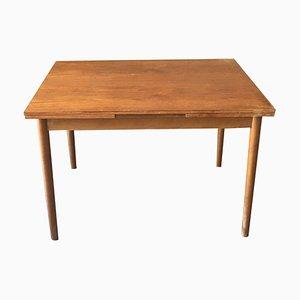 Mesa de comedor extensible sueca de teca, años 60
