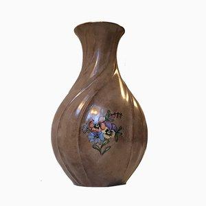 Vase en Porcelaine Torsadée de Lyngby Porcelæn, Danemark, années 30