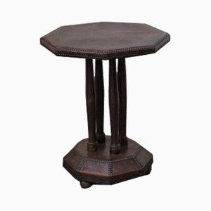 Table d'Appoint Vintage en Cuir