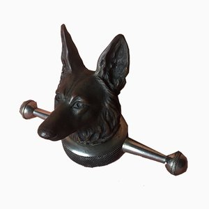 Antique Bronze Radiator Cap Dog by Henri Payen