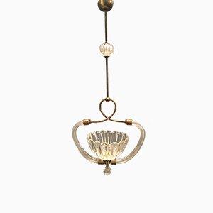Lampe à Suspension en Verre de Murano par Ercole Barovier, années 40
