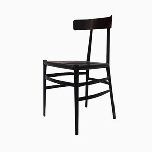 Italian Black Enameled Dining Chair from Cappellini, 1980s