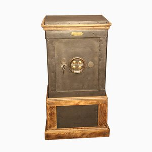 Antique French Steel and Wood Cabinet