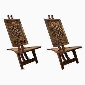 Africanist Beistellstühle, 1931, 2er Set